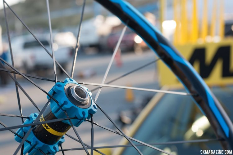 The Mavic Elite XA Trail wheelset is $750, under 1800 grams, and comes with thru axle and QR fittings. © Cyclocross Magazine