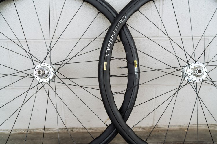 Mavic has revamped and relaunched the legendary Open Pro rim, given it more a lot more width, a tubeless UST bead and yet may have actually gotten lighter. 24, 28 and 32 hole options are available. © Cyclocross Magazine