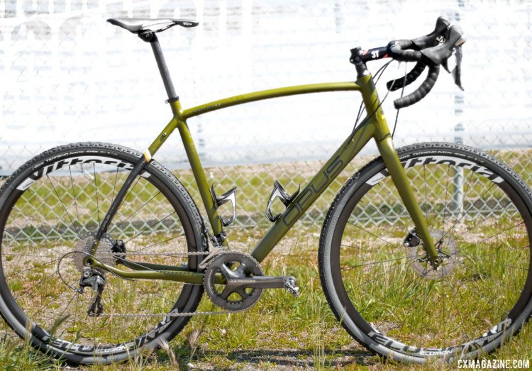 The Opus Bikes Spark features an alloy frame, carbon fork, disc brakes and comes in five different builds. © Cyclocross Magazine