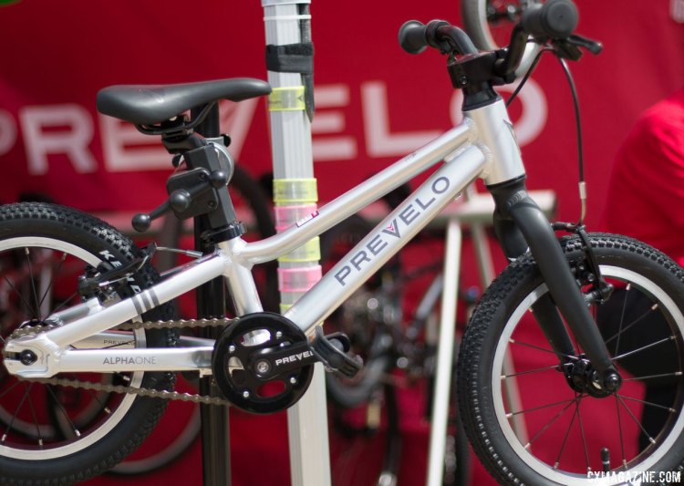 Southern California-based Prevelo is the newborn of the group but features some adult-worthy specs. Kids' bikes companies multiply at the 2017 Sea Otter Classic. © Cyclocross Magazine