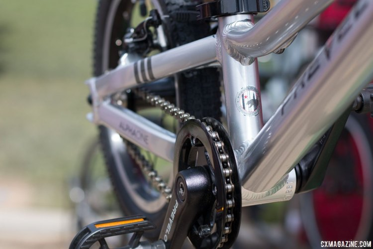 Low saddle height and low bottom bracket are a Prevelo signature. 2017 Sea Otter Classic. © Cyclocross Magazine