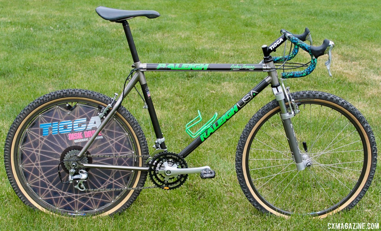 Eric Rumpf's John Tomac replica 1991 Raleigh Signature ti/carbon drop bar mountain bike. © Eric Rumpf