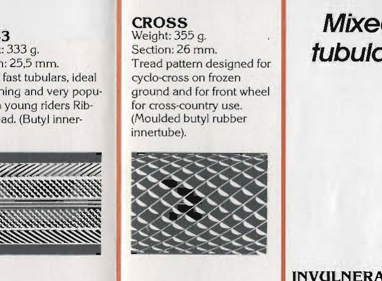 The Wolber Cross file tread tubular. 355g, 26mm wide.