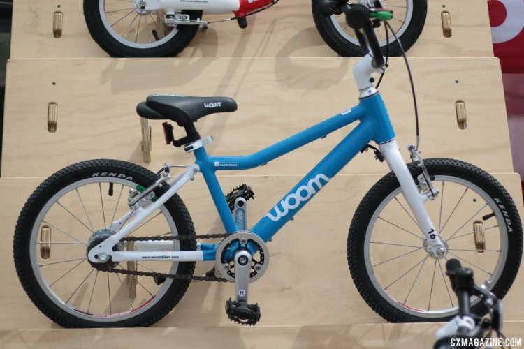 "Woom Bikes claims to have the world's lightest 14"" wheel bike under $500. Kids' bikes companies multiply at the 2017 Sea Otter Classic. © Cyclocross Magazine"