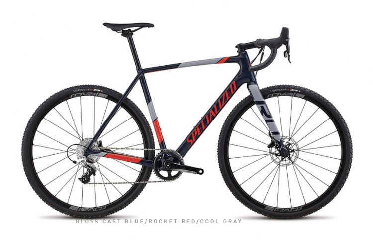 The carbon CruX Elite X1 retails for $3,200. It has a 1x front chain ring with an 11-speed 11-32 rear cassette, Roval SLX 24 alloy disc wheels and SRAM Rival components. (photo: Specialized)