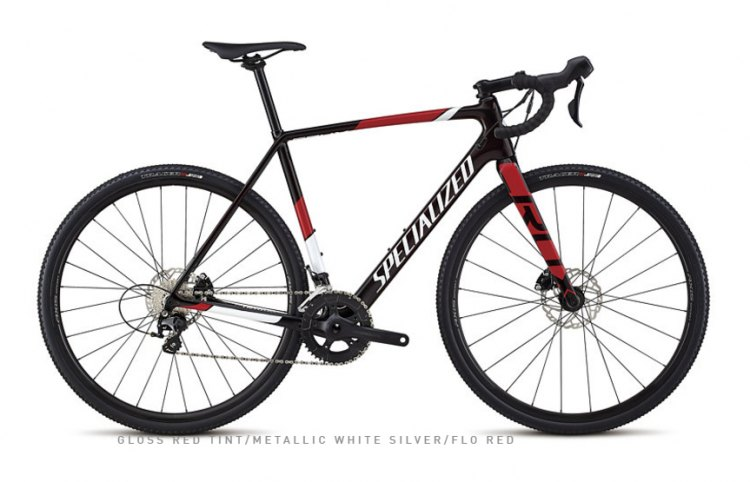 The $2,800 CruX Sport is the first carbon entry on the CruX line. It is built with Shimano 105 components, Shimano RS505 disc brakes and a 46/36 double front chain ring and 11-speed 11-28 rear cassette. (photo: Specialized)