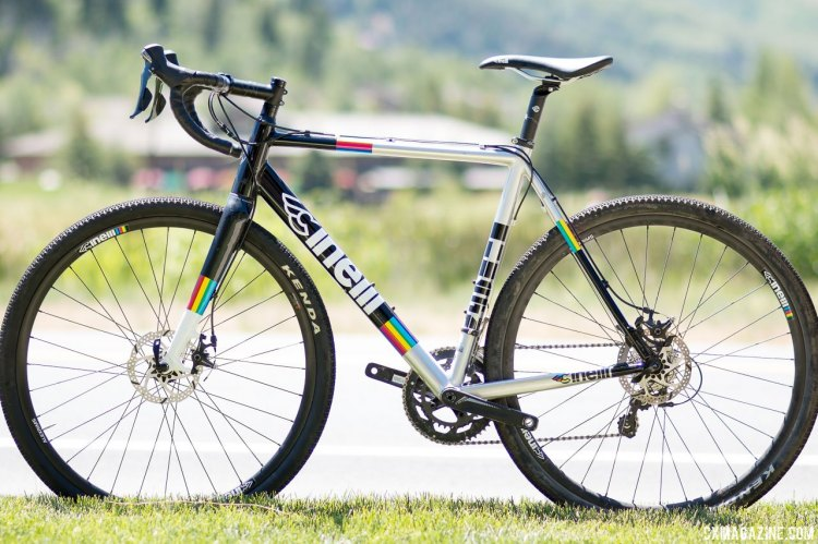 The $1600 Cinelli Zydeco aluminum cyclocross/gravel bike with Shimano Tiagra. Press Camp 2017. © Cyclocross Magazine
