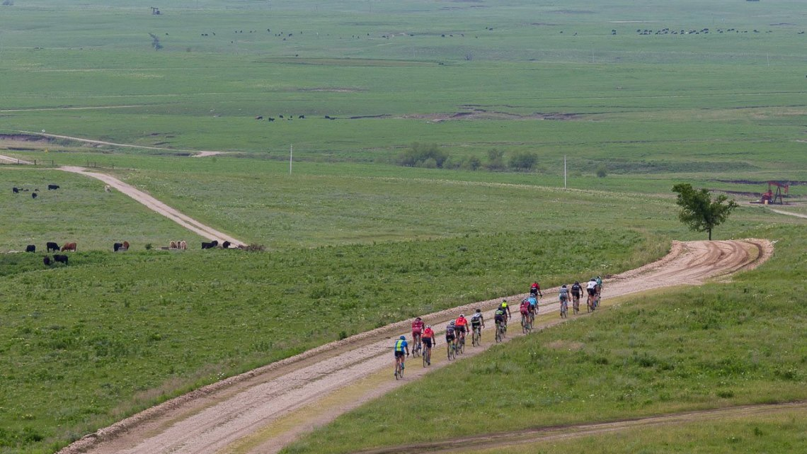 Kansas is not flat. Here's proof. 2017 Dirty Kanza gravel race. © Christopher Nichols