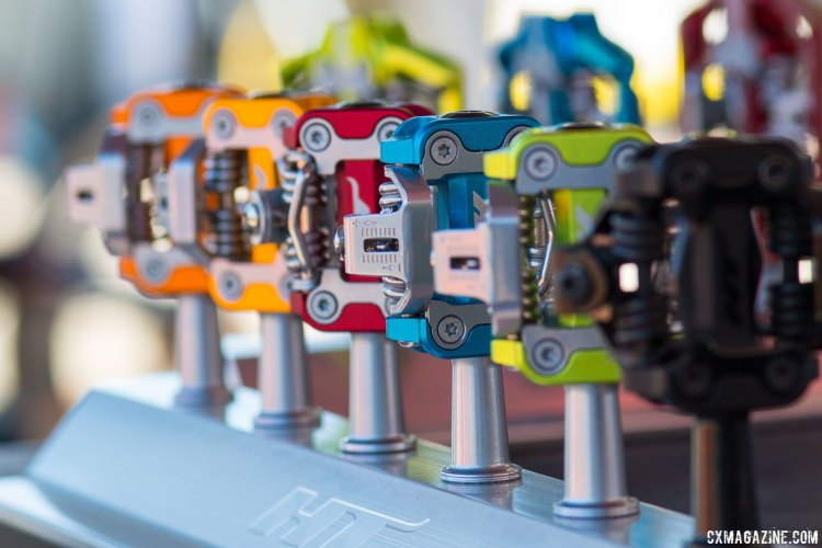 HT Components serves up another pedal option for cyclocross and mountain biking, with color, cleat and spindle options. © Cyclocross Magazine