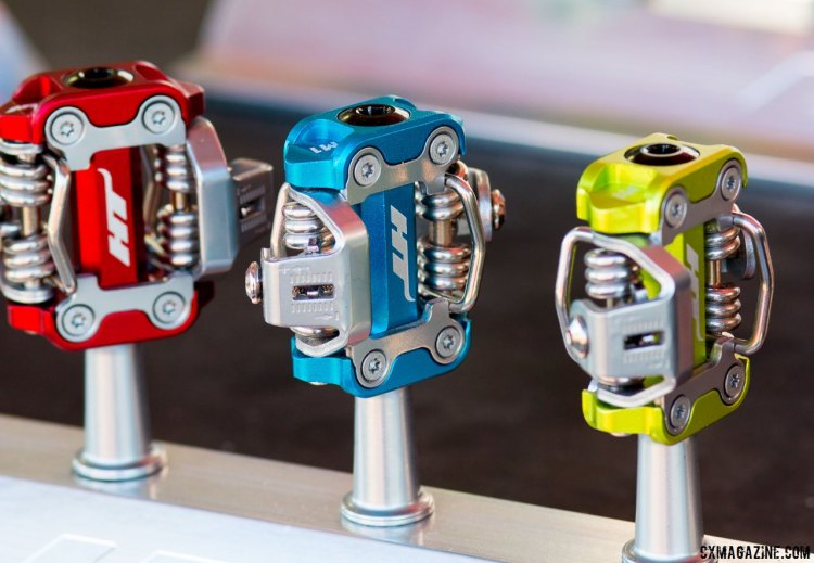 It's almost as if a Time ATAC pedal and Shimano SPD pedal had a child. HT Components serves up the offspring as another pedal option for cyclocross and mountain biking, and cites a lower stack heigh, sealed bearings, weight savings and mud clearance as reasons to make the switch. © Cyclocross Magazine