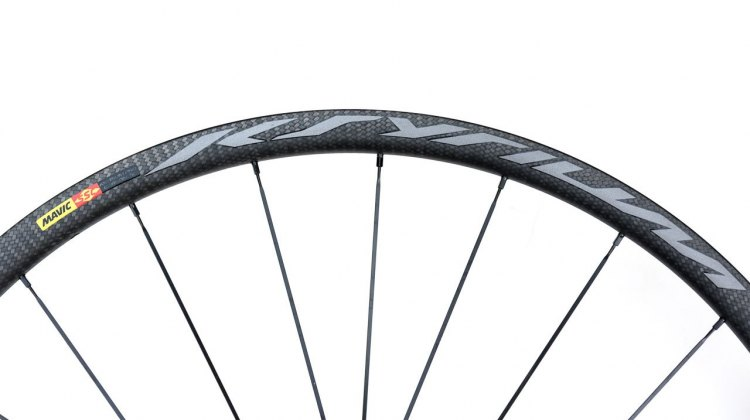 Since 1999, the Kysrium has represented Mavic innovation, and the Mavic Ksyrium Pro SL T Disc tubular wheelset continues with its lightweight carbon build for disc brake cyclists. © Cyclocross Magazine
