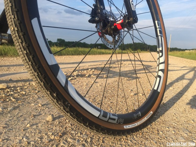 Equipment is a guessing game based on conditions and luck, but this year Shirley is rolling with an Alchemy Hyas with ENVE M50 wheels, Panaracer Gravelking 35mm SK tires, with Orange Seal sealant, inflated to 40 psi. photo: Neil Shirley