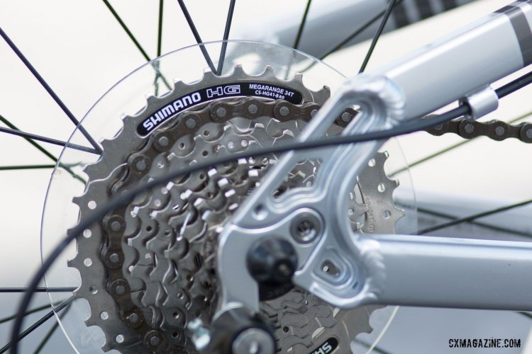 The 8-speed Alpha 3 features a wide 11-34 rear cassette. © Cyclocross Magazine