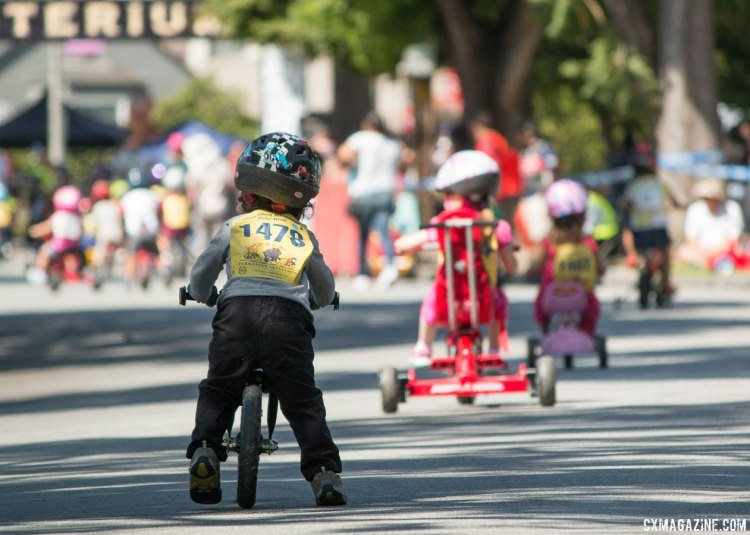 Not on a pedal bike yet? No pedals, no problem. Ryan Phua Memorial Kid's Ride at the Burlingame Criterium. © Cyclocross Magazine
