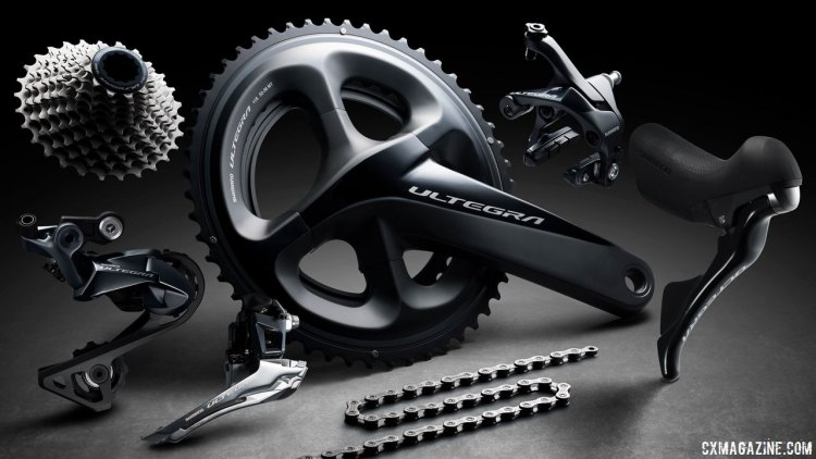 Shimano's new Ultegra R8000 promises to still be one of the workhorse group options for amateur and professional cyclocross and gravel racers alike. © Cyclocross Magazine