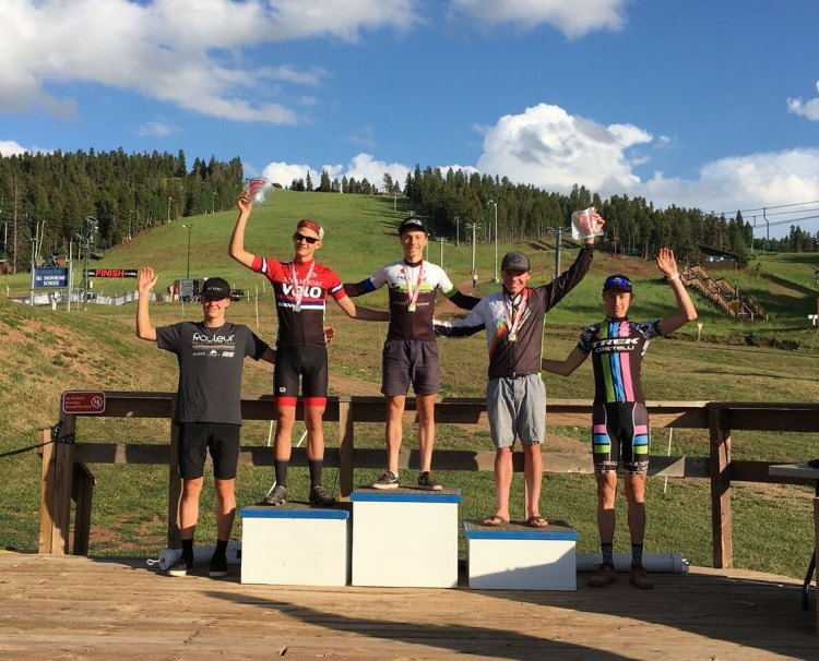 Caleb Swartz took the win at the 2017 Angel Fire UCI mountain bike race. photo: Caleb Swartz