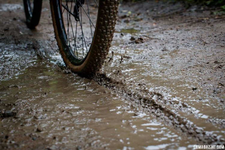 The WTB Resolute 42 gravel tire should keep you rolling when gravel turns to mud.