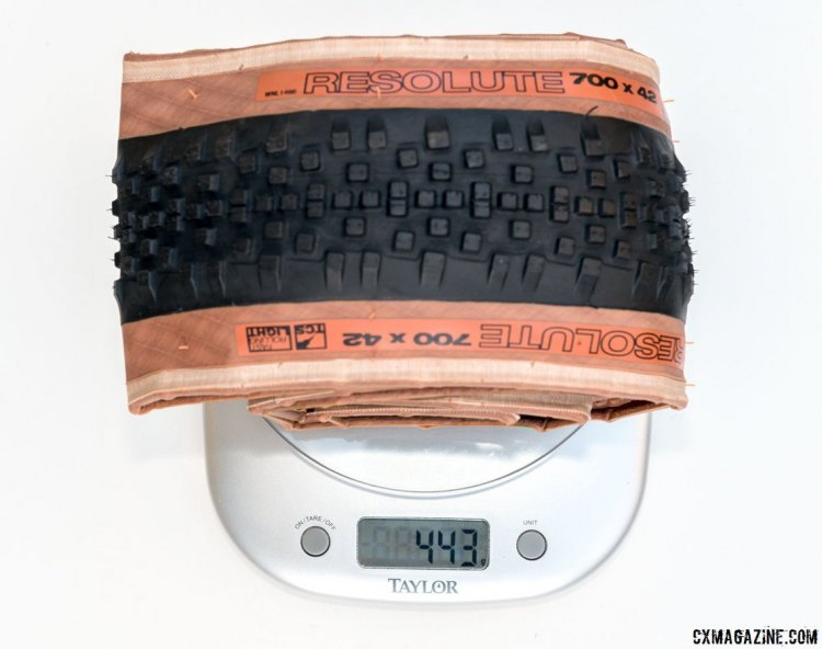 Our production samples weighed around 450g, but this 443g sample was the lightest of the bunch. © Cyclocross Magazine