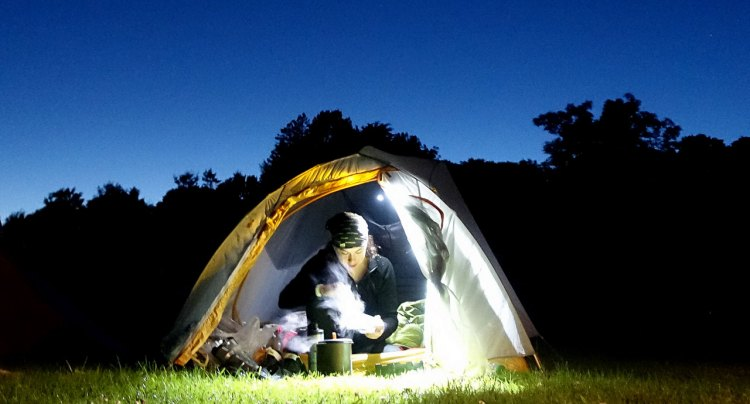 The 2017 Nomad Adventure Ride has guests camping under the stars, but takes care of the cooking. © Rob Vandermark