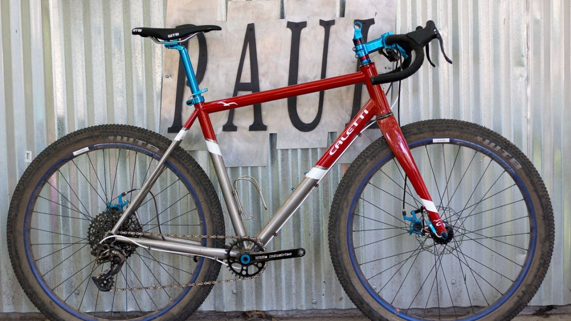 Made-in-America, with a plethora of American-made components. Caletti Cycles' titanium monster cross bike. 2017 Paul Camp. © Cyclocross Magazine
