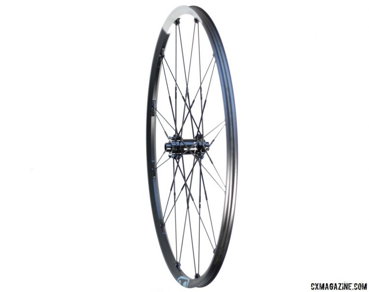Crankbrothers Zinc 3 cyclocross/gravel wheels are slightly lighter and narrower (2mm) than the updated sister Cobalt 3 wheelset. Our front wheel tipped the scales at 772g, 1708g for the pair. © Cyclocross Magazine