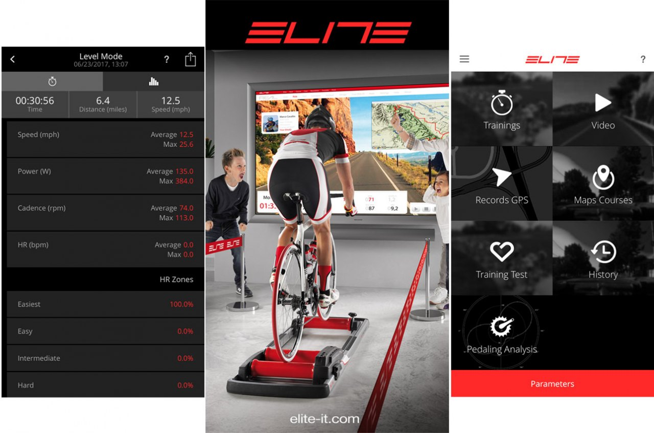 Elite's eTraining iOS app works adequately, but does not support multitasking