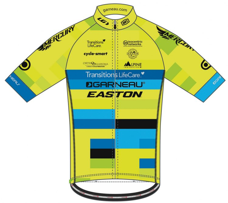 The 2017-2018 Garneau-Easton p/b Transitions LifeCare Devo team jersey.