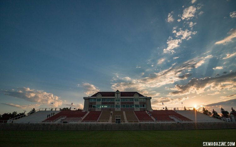 Nelson Stadium and its stairs await the campers each sunrise, but any hill or staircase can provide the same benefits. 2017 Montana Cross Camp © Cyclocross Magazine