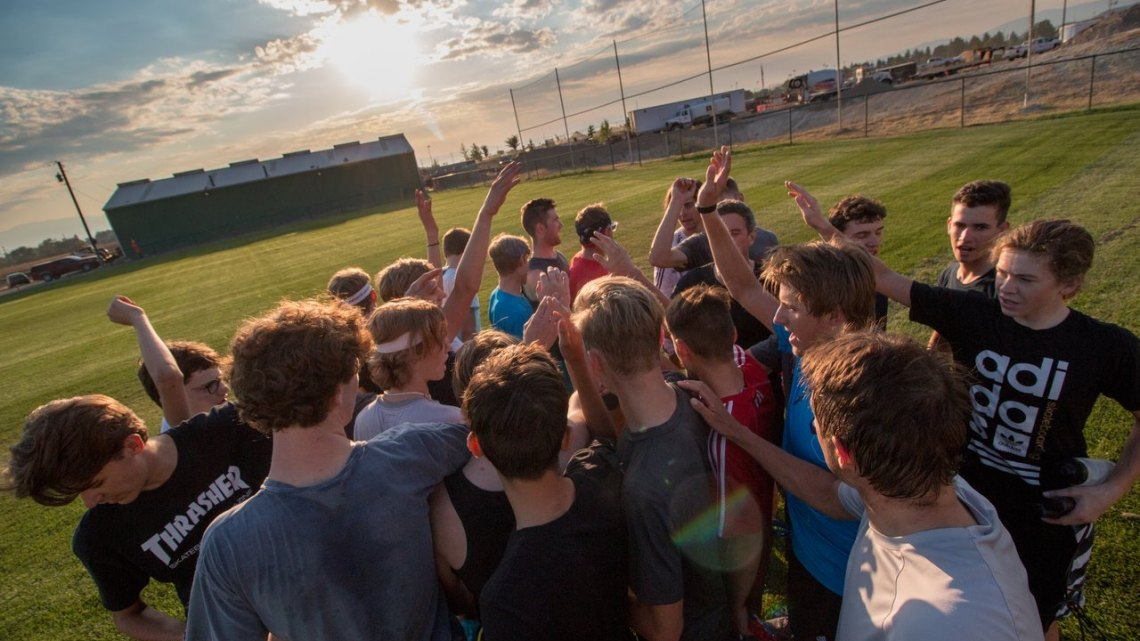 With the sun barely up, the camp attendees have already done more during their morning workout than most of us do in a day. 2017 Montana Cross Camp © Cyclocross Magazine