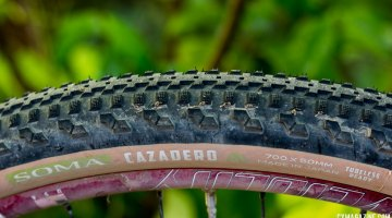 Soma Fabrications new 700c x 50mm Cazadero tubeless gravel tire. © Cyclocross Magazine
