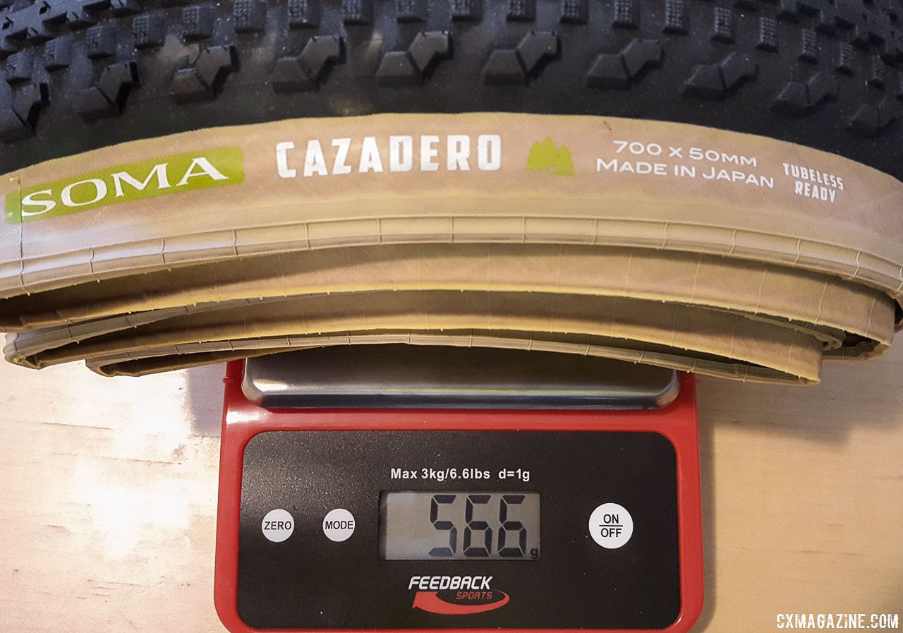 Soma Fabrications new 700 x 50 Cazadero tubeless gravel tire comes in four grams lower than list weight. © Cyclocross Magazine