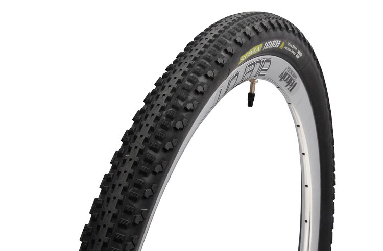 Soma Fabrications new 700 x 50 Cazadero tubeless gravel tire comes in skinwall or blackwall, but unlike the 42mm version, is officially tubeless. photo: courtesy