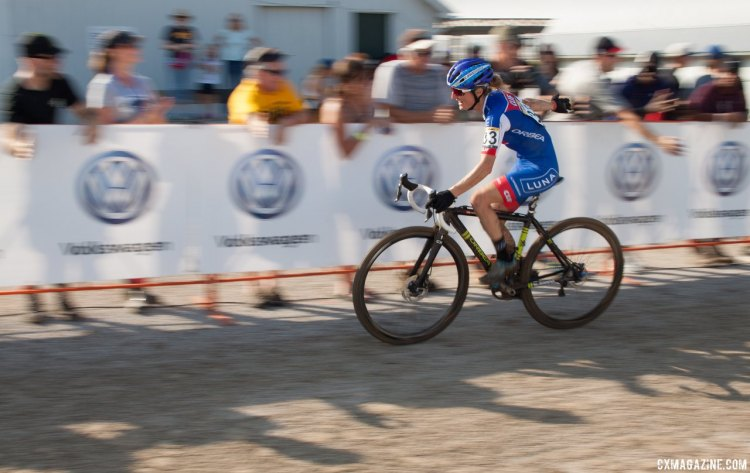 Maghalie Rochette kicked off an impressive cyclocross season with the U.S. World Cups. 2016 Jingle Cross cyclocross festival. © A. Yee / Cyclocross Magazine