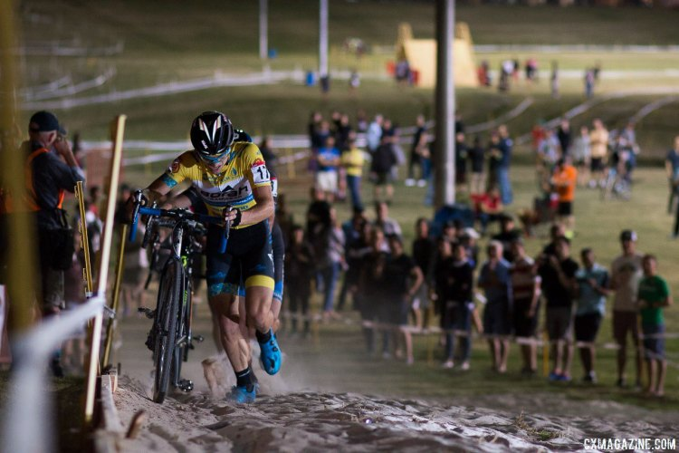 Bjorn Selander is back, focusing on cyclocross, and showed that he's ready to compete at the highest level. 2017 CrossVegas Elite Men. © A. Yee / Cyclocross Magazine
