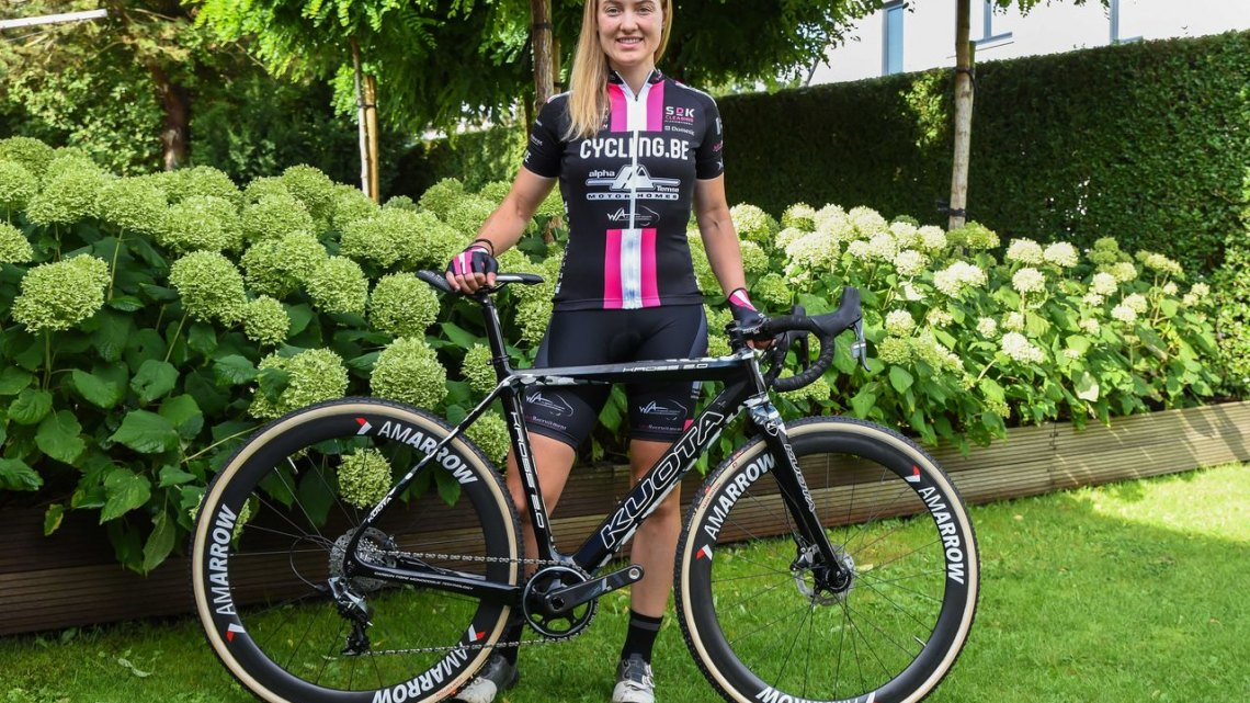 Elle Anderson, Cycling.be - Alpha Motorhomes Ladies team announcement. photo: courtesy