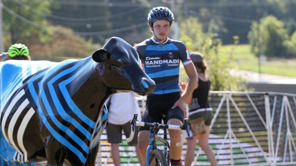 Custom painted Project One cows dot the grounds of the Trek World Headquarters, keeping watch on the racers throughout the weekend. Trek CX Cup. © D. Mable / cxmagazine.com