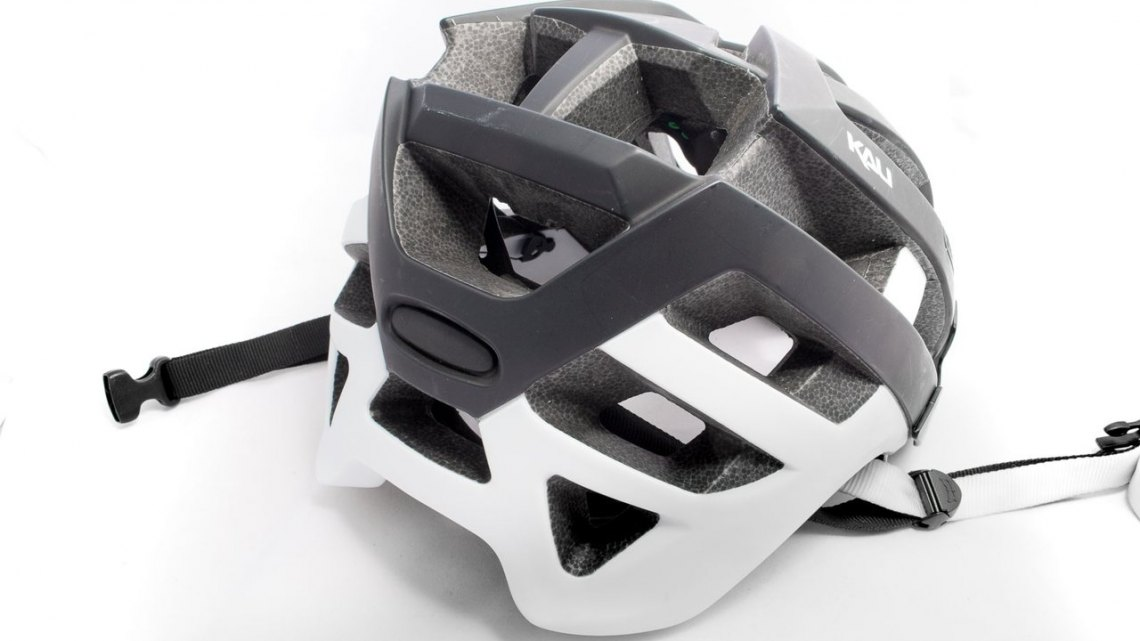 If you wear a helmet for head protection, the Kali Protectives Interceptor helmet offers quite a bit out back, all while weighing just 360g for an L/XL size. © Cyclocross Magazine