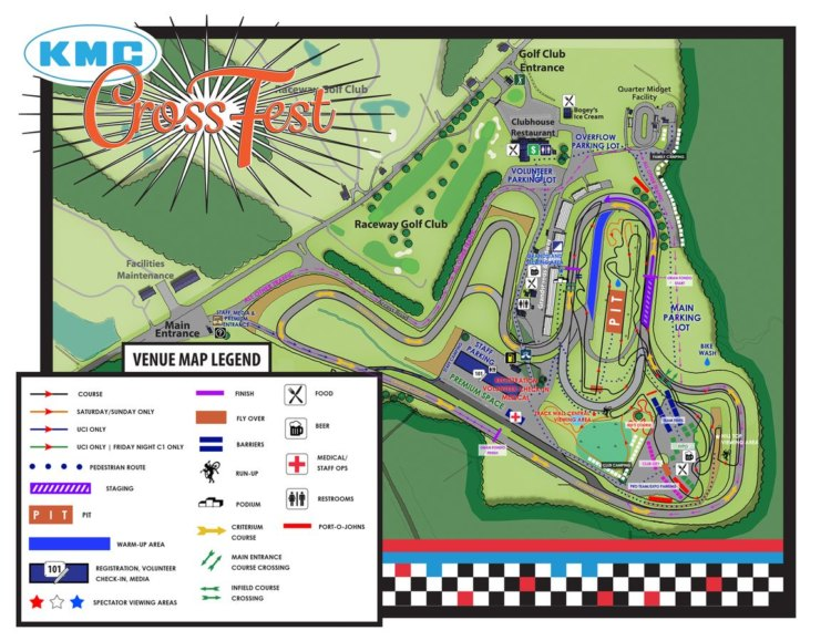 2017 KMC Cross Fest course map. photo: courtesy