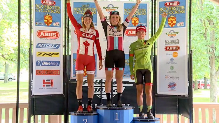 The 2071 Rochester C1 Elite Women's podium
