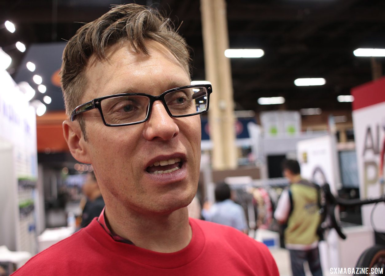 Edwin Bull of Van Dessel Cycles reflects on 18 years of offering unique, versatile bikes. Interbike 2017 © Cyclocross Magazine