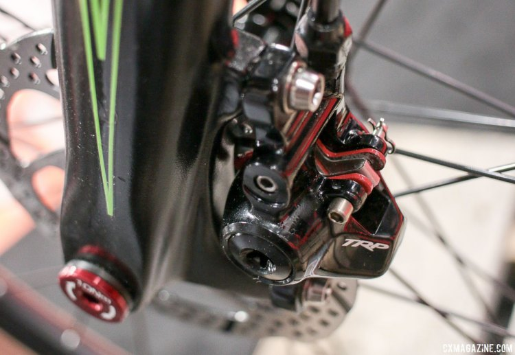 The Van Dessel Country Road Bob returns with TRP's updated Hylex S hydraulic RS brakes and levers. Singlespeed or geared. Interbike 2017 © Cyclocross Magazine