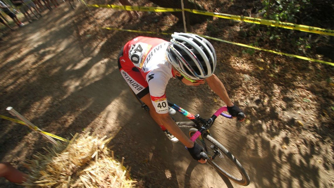 Mountain bike star Annika Langvad (Specialized Racing) was back to try her hand at cyclocross in Waterloo. 2017 World Cup Waterloo Elite Women. © D. Mable / Cyclocross Magazine