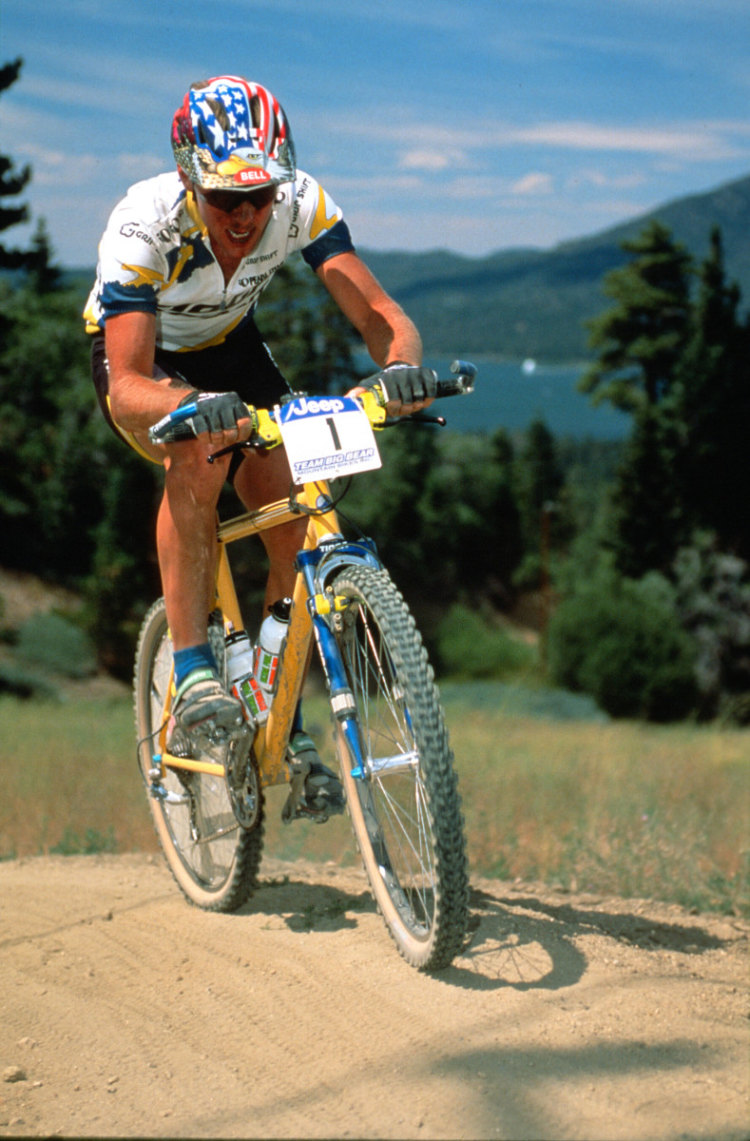 John Tomac during his mountain bike racing days. © Mark Dawson