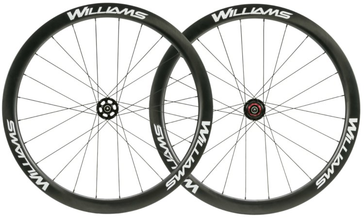 Williams' $1,400, 1,558 gram System 45 Carbon Tubeless Clincher. Interbike 2017. photo: courtesy