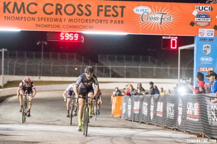 Tobin Ortenblad (Santa Cruz / Donkey Label Racing) took the win Friday night. 2017 KMC Cross Fest Day 1 (Friday) © J. Curtes / Cyclocross Magazine