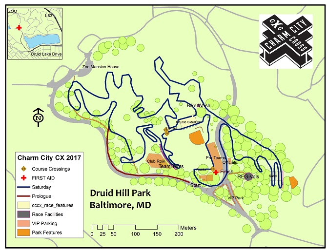 Charm City Cross course map 2017. photo: courtesy