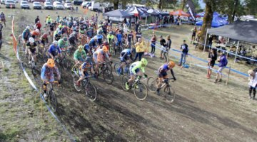 Elite Men's whistle just blew. CX Crusade Cascade Locks. Photo M. Estes