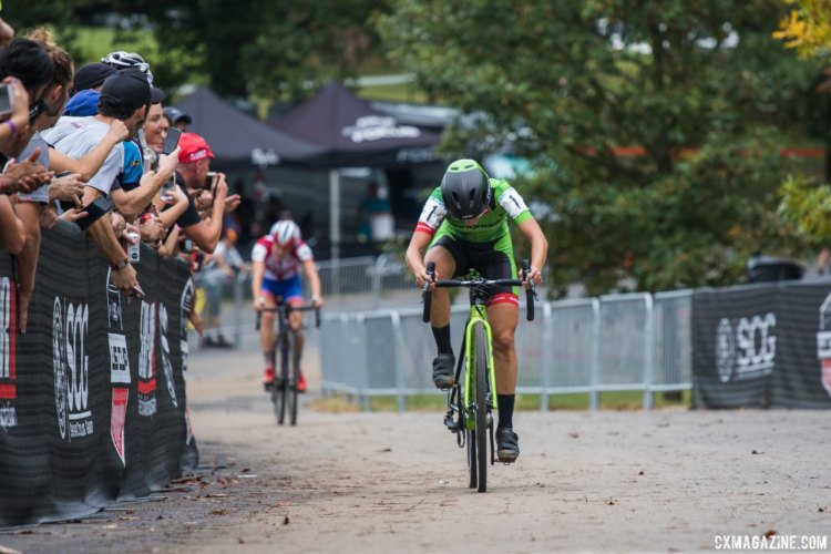 Kaitie Keough went back-to-back in Baltimore. 2017 Charm City Cross Day 2. © M. Colton / Cyclocross Magazine