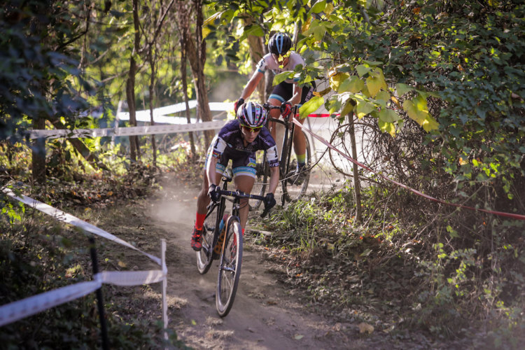 Arley Kemmerer leads the way early in Sunday's race. 2017 DCCX Day 2. © Bruce Buckley Photo