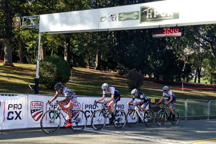 Anthony Clark, Justin Lindine, Sam Smith and Jack Kisseberth rode together early on Day 1 of HPCX. photo: Jesus Rivera